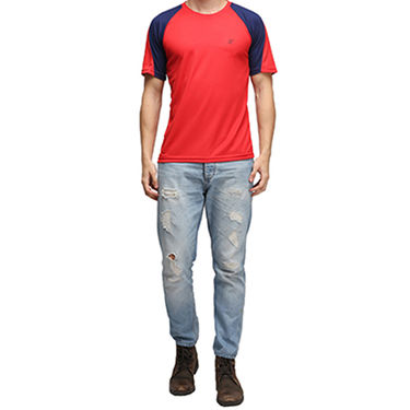Effit Half Sleeves Round Neck Tshirt_Etsprnnv - Red
