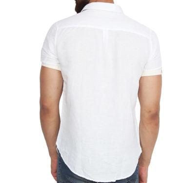 Branded Linen Casual Shirt_Zara06 - White