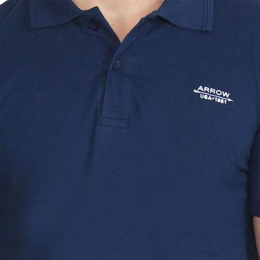 Branded Cotton Casual Tshirt_Arrow04 - Navy Blue