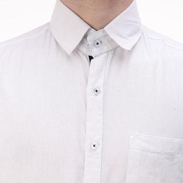 Plain Cotton Shirt_Gkchocow - White