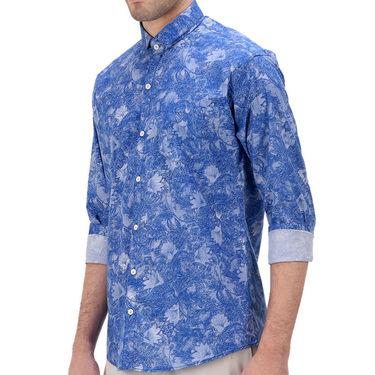 Printed Cotton Shirt_Gkdigiblu - Blue