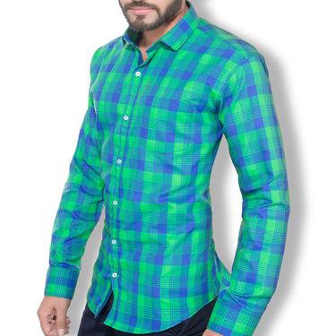 Checks Cotton Shirt_Gkchexgrn - Multicolor