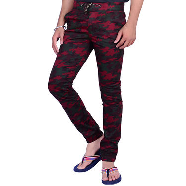 Printed Cotton Trackpants_Gkcam003 - Multicolor