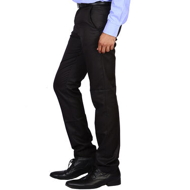 Plain Cotton Trousers_Gksuitingb - Black