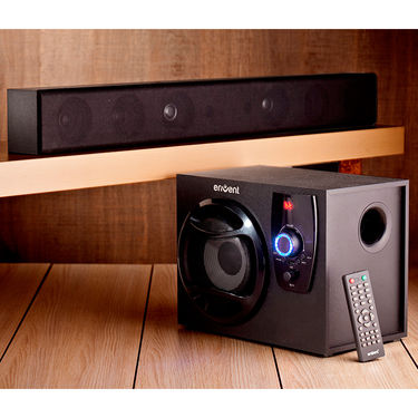 Envent Horizon TrueWood Soundbar with Woofer(Black)