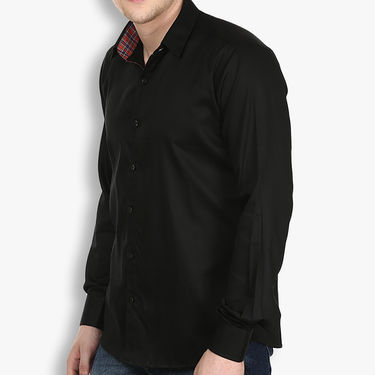 Pack of 2 Stylox Cotton Shirts_2938 - Black & Brown