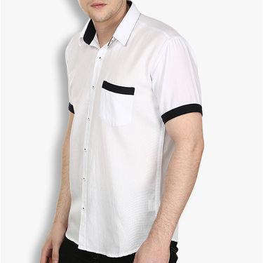 Combo of 2 Stylox Cotton Shirts_3133 - White & Navy