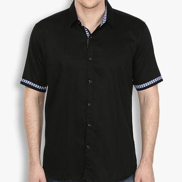 Combo of 2 Stylox Cotton Shirts_3134 - Navy & Black