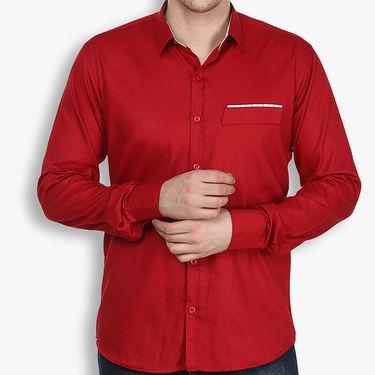 Stylox Cotton Shirt_Mernp024s - Maroon