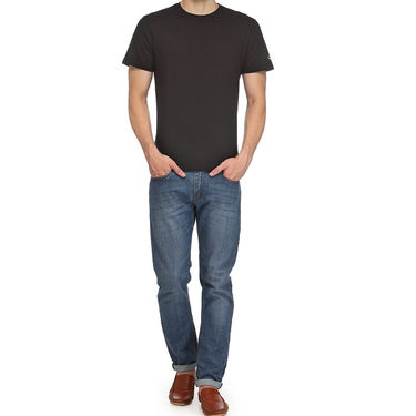 Rico Sordi 100% Cotton Tshirt For Men_Rnt019 - Black