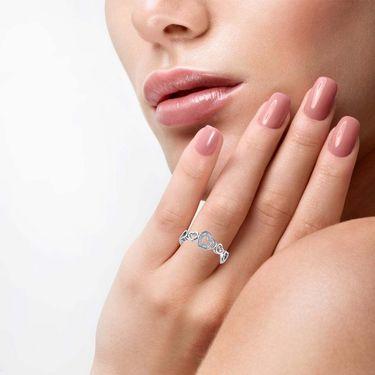 Kiara Swarovski Signity Sterling Silver Varsha Ring_KIR1053