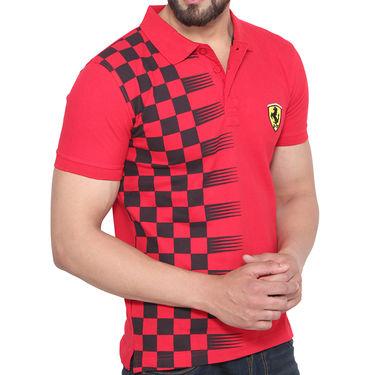 Branded Cotton Slim Fit Tshirt_Fr01 - Red