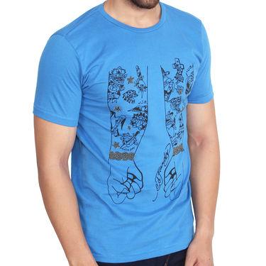 Branded Cotton Slim Fit Tshirt_Edhb05 - Blue