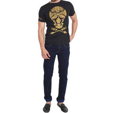 Branded Cotton Slim Fit Tshirt_Edhblk09 - Black