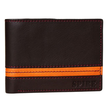 Spire Stylish Leather Wallet For Men_Smw125 - Brown