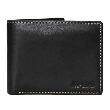 Spire Stylish Leather Wallet For Men_Smw148 - Black