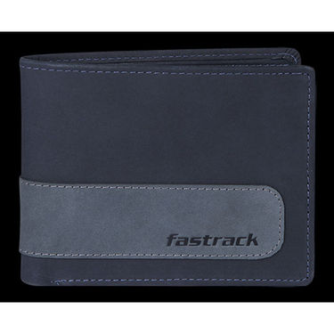 Fastrack Leather Wallets For Men_C0384lbl01 - Blue
