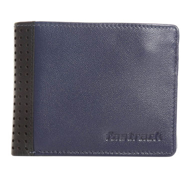 Fastrack Leather Wallets For Men_C0390lbl01 - Blue