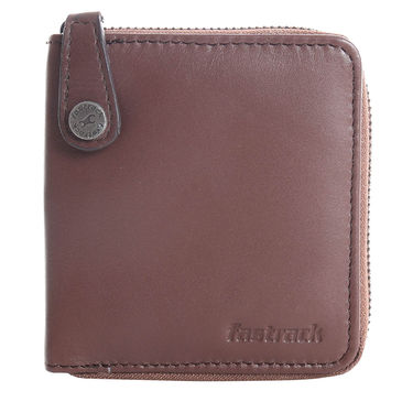 Fastrack Leather Wallets For Men_C0333lbr03 - Brown