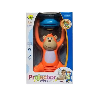 Kids Learning Light Projector Painting Intellectual Toy Orange