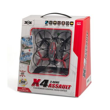 X4 Assault 2.4GHZ 4Channel Remote Control Quadcopter 360Eversion Drone Yellow
