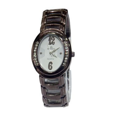 Branded Oval Dial Analog Wrist Watch For Women_1403sm03 - White