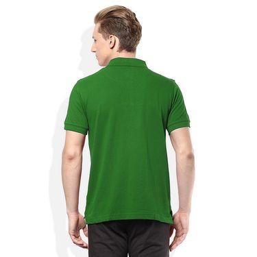 Plain Comfort Fit Blended Cotton TShirt_Ptgr - Green