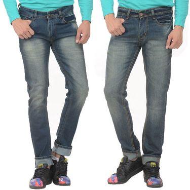 Pack of 2 Forest Plain Slim Fit Jeans_Jnfrt1112 - Blue