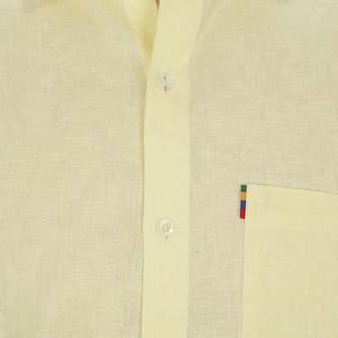 Fizzaro Plain Half Sleeves Stylish Shirt For Men_Fzls110 - Yellow