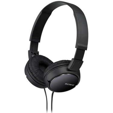 Sony MDR-ZX110A On-Ear Street Style Headphones Without Mic (Black)