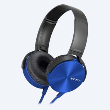 Sony MDR-XB450 On Ear Extra Bass(XB) Headphones (Blue)