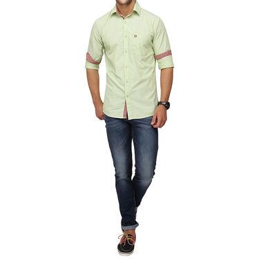 Crosscreek 100% Cotton Shirt For Men_1080302f - Green