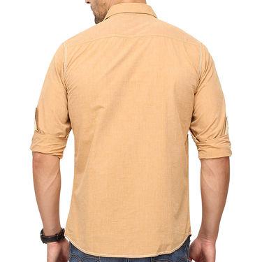 Crosscreek 100% Cotton Shirt For Men_1080303f - Beige