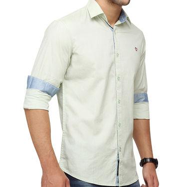 Crosscreek 100% Cotton Shirt For Men_1080309f - Light Green