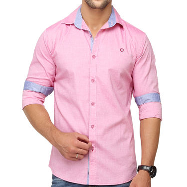 Crosscreek 100% Cotton Shirt For Men_1080311f - Pink
