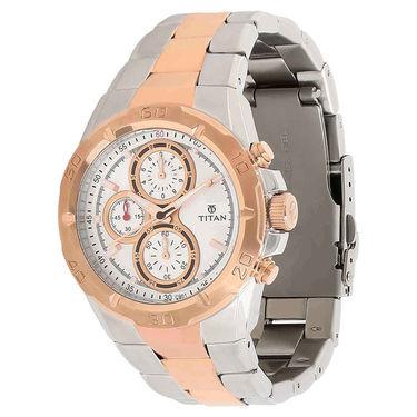 Titan Raga Stylish Watch For Men_T07 - White