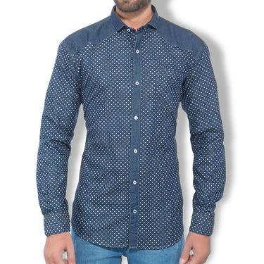 Branded Denim Cotton Shirt_Gkds11 - Blue