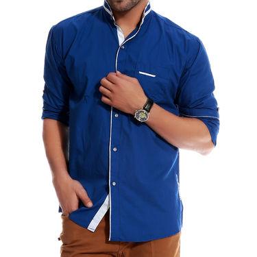 Brohood Cotton Shirt_Mfsd3005 - Blue