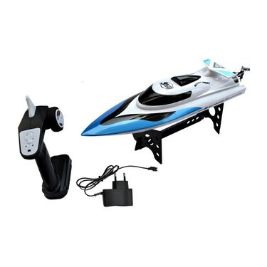 High Speed  Racing Boat with Velocity of 5.5 mtrs/sec Blue