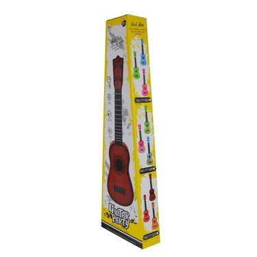Kids Cartoon Printed 40cm Party Play Learning Guitar - Blue