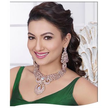 Kriaa Alloy Ethnic Necklace Set_2000308 - White