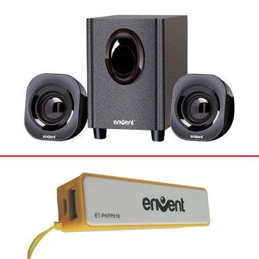 Combo of Envent Hottie Stereo Speaker + Envent EnergyBar 2600 mAh Powerbank