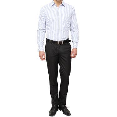 Copperline 100% Cotton Shirt For Men_CPL1175 - White & Blue