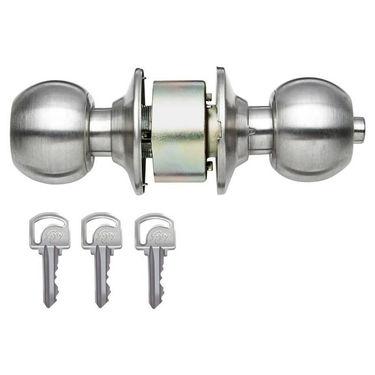 Godrej Cylindrical lock SS finish Classic (Silver)