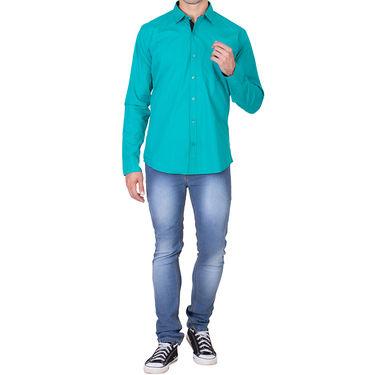 Branded Full Sleeves Cotton Shirt_R25kgrn - Sea Green