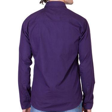 Branded Full Sleeves Cotton Shirt_R25kwine - Purple