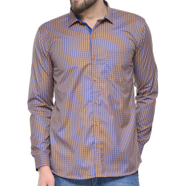 Combo of 3 Being Fab Polycotton Full Sleeves Checks Shirts_Bcm4