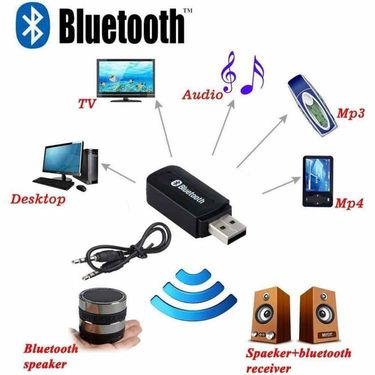 Being Trendy V3.0 Car Bluetooth Device With 3.5mm Connector, Adapter Dongle, Audio Receiver, Transmitter(Black)