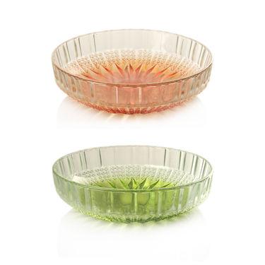 13 Pcs Crystal Cut Color Serving Set