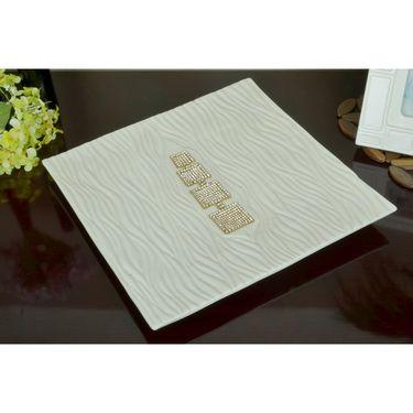 Ceramic  Jeweled Platter-1303-0414